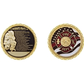 Challenge Coin Fireman's Prayer Coin