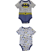 DC Comics Infant Boys Batman Bodysuit 2 Pk.