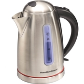 Hamilton Beach 1.7 Liter Stainless Steel Electric Kettle