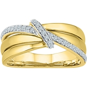 10K Yellow Gold 1/6 CTW Fashion Ring