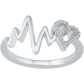 Sterling Silver 1/15 CTW Fashion Ring