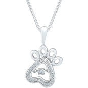 Sterling Silver 1/20 CTW Fashion Pendant, 18 In.