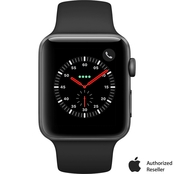 Apple Watch Series 3 GPS + Cellular 42mm Space Gray Aluminum Case with Sport Band