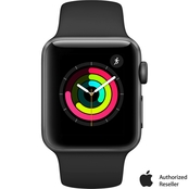 Apple Watch Series 3 GPS Space Gray Aluminum Case with Gray Sport Band