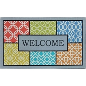 Mohawk Home Fret Patches Multi 18 x 30 In. Doormat