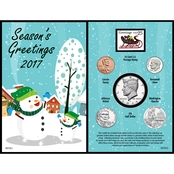 American Coin Treasures Snowman Greeting Card
