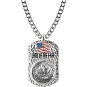 American Coin Treasures Men's Eagle Coin Tag Pendant