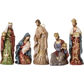Roman 8 in. Gold Leaf Nativity Figures with Papercut Design 5 Pc. Set