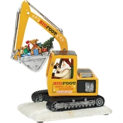 Roman Amusements High Santa in North Pole Excavator Action Musical Decor, 11 in.
