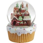 Roman Gingerbread Village Musical Snow Globe