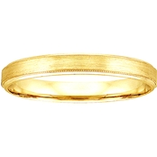 14K Yellow Gold Engraved 4mm Band
