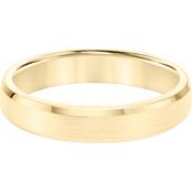 14K Yellow Gold 4.5mm Men's Engraved Wedding Band