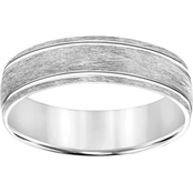 14K White Gold Engraved 6mm Band
