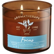 Bath & Body Works Aromatherapy Stress Relief Eucalyptus and Tea 3 Wick Candle