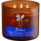 Bath & Body Works Aromatherapy Stress Relief Lavender and Cedarwood 3 Wick Candle