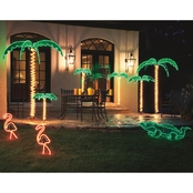 Roman NorthLight 24 in. Tropical Lighted Pink Flamingo Rope Light Yard Art