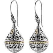 Robert Manse Designs Sterling Silver Bali Small Orb Earrings with 18K Gold Accents