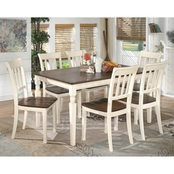 Signature Design by Ashley Whitesburg Rectangular Table with 6 Chairs