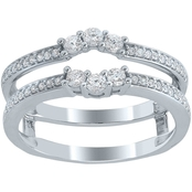 14K White Gold 3/8 CTW Diamond Enhancer Ring