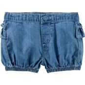 OshKosh B'gosh Infant Girls Ruffle Back Shorts, Dream Wash