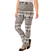 New Recruit Maternity Printed Knit Boot Cut Pants