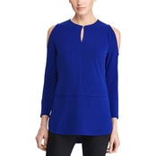 Lauren Ralph Lauren Kiralynn Jersey Cutout-Shoulder Top