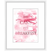 Eat Cake for Breakfast Wall Art