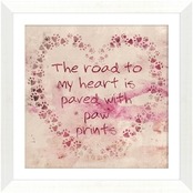 The Road To My Heart Is Paved With Paws Wall Art