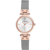 Anne Klein Women's Diamond Accented Two-tone Mesh Bracelet Watch AK/3003SVRT