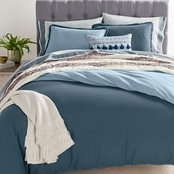 Martha Stewart Collection Whim Cotton Linen Reversible Comforter Set