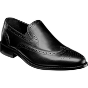 Nunn Bush Norris Double Gore Wing Tip Slip On Shoes