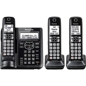 Panasonic 6.0 Expandable Digital Cordless Answering System with 3 Handsets