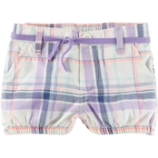 OshKosh B'gosh Infant Girls Bubble Shorts Purple Plaid