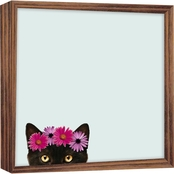 PTM Images Cat with Flower Magnet Board