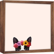 PTM Images Dog With Flower Magnet Board