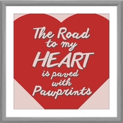 PTM Images the Road to My Heart is Paved with Paws Decorative Wall Art