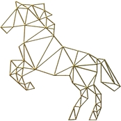 PTM Images Geometric Horse Decorative Wall Art