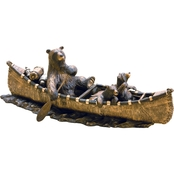 Big Sky Carvers Canoe Trip Sculpture