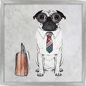 PTM Images Business Pug Decorative Frame Art