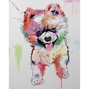 PTM Images Running Dog Decorative Canvas Print Wall Art