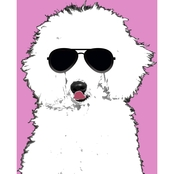 PTM Images Hipster Poodle Decorative Canvas Print Wall Art