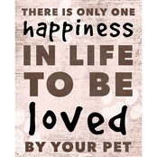 PTM Images There is Only One Happiness Decorative Plaque Wall Art
