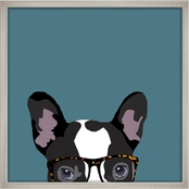 PTM Images Hipster Pug Decorative Framed Art