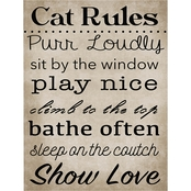 PTM Images Cat Rules Decorative Plaque Wall Art