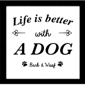 PTM Images Life is Better with a Dog Decorative Framed Art