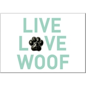 PTM Images Live Love Woof Decorative Plaque Wall Art