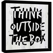 PTM Images Think Outside the Box Decorative Framed Art