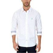 Nautica Classic Fit Wrinkle Resistant Stretch Cotton Printed Shirt