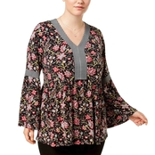 Style & Co. Plus Size Printed Babydoll Tunic
