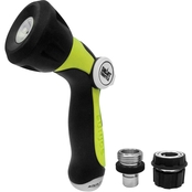 Sun Joe One Touch Adjustable Hose Nozzle, Smart Throttle, Quick Disconnect 2 Pk.